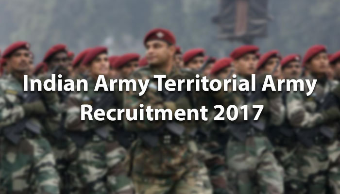 Indian Army Territorial Army Recruitment 2017